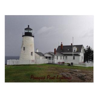 Pemaquidポイント灯台、メイン ポストカード