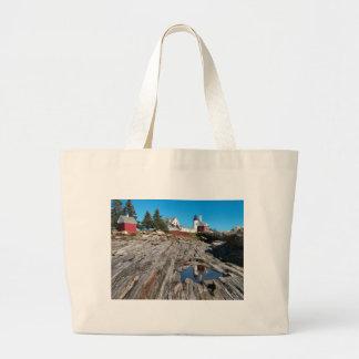 Pemaquidポイント灯台、メイン ラージトートバッグ