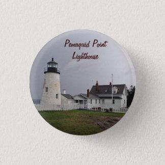 Pemaquidポイント灯台、メイン 3.2cm 丸型バッジ