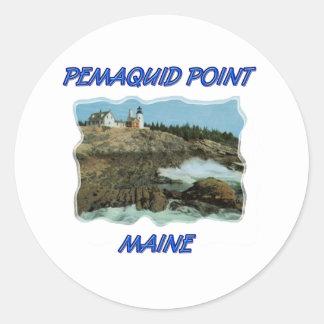 Pemaquidポイント灯台 ラウンドシール