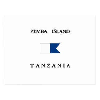 Pembaの島のタンザニアのアルファ飛び込みの旗 ポストカード