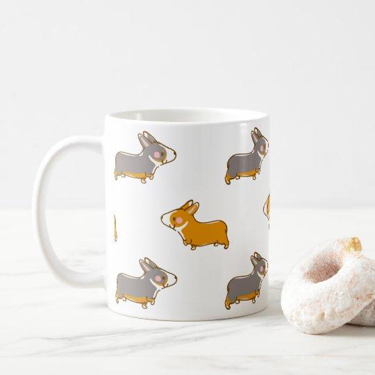 pembroke welsh corgi 手描き柄 コーヒーマグカップ