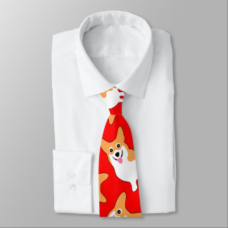 Pembroke Welsh Corgi Christmas Necktie ネックウェアー