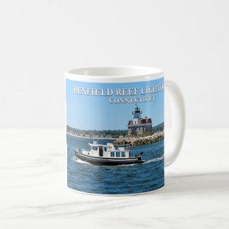 Penfield礁の灯台、コネチカットのマグ コーヒーマグカップ
