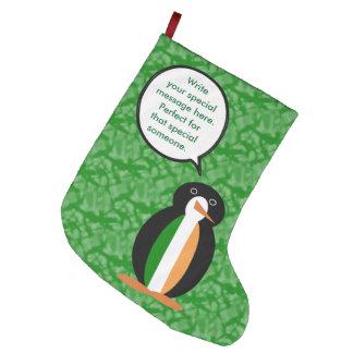Penguinアイルランドの休日の氏 ラージクリスマスストッキング