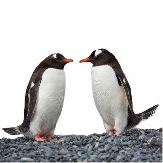 Penguin Couple 写真彫刻(台付き)