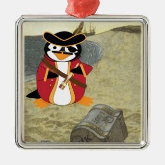 Penguinzanceのオーナメントの海賊 メタルオーナメント