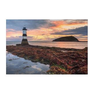 Penmonの灯台日の出|のツノメドリの島 アクリルウォールアート