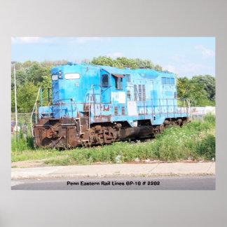 Pennの東の鉄道線路GP-10 # 2202 ポスター