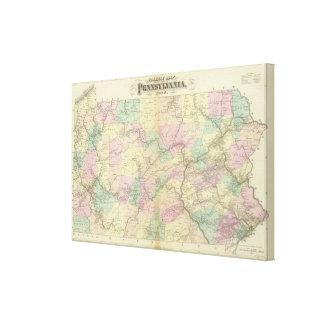 Pennの鉄道の地図 キャンバスプリント