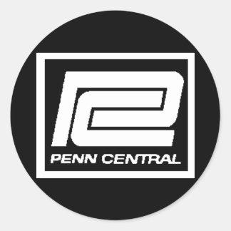 Penn Central Railway Companyのロゴ ラウンドシール