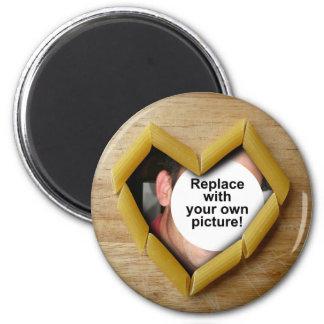 Penneのハートの写真テンプレートの磁石 マグネット