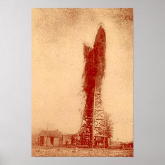 Pennvilleのインディアナの油田の井戸の噴出油井 ポスター
