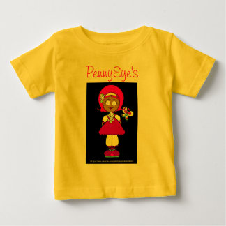 PennyEyeの人形のワイシャツ ベビーTシャツ