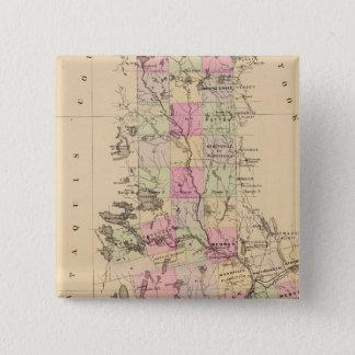 Penobscot郡、メイン 5.1cm 正方形バッジ