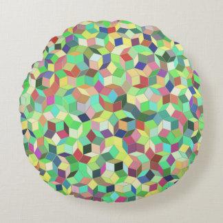 Penroseのタイルの枕(ベージュ色か海緑) ラウンドクッション