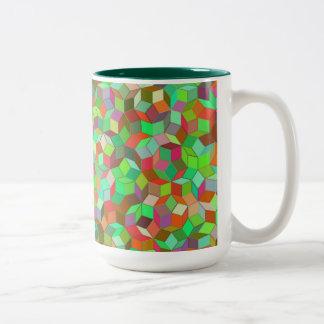 Penroseのタイルパターンマグ ツートーンマグカップ
