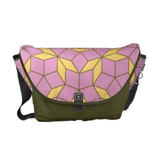 Penroseのタイルパターン、バラのこはく色 メッセンジャーバッグ
