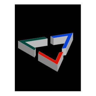 Penroseの三角形 ポストカード