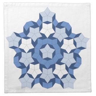 Penroseの青いタイルのナプキン ナプキンクロス