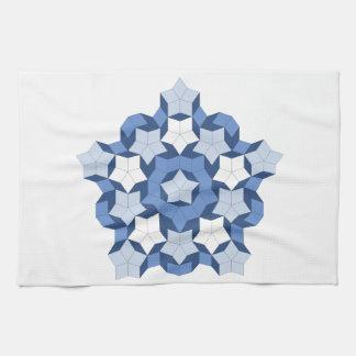Penroseの青いタイルの台所タオル キッチンタオル