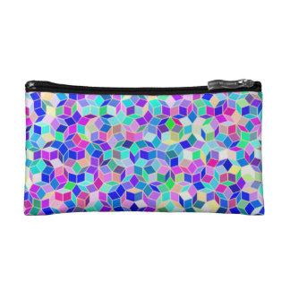 Penroseパターンが付いている小さい硬貨の財布/化粧のバッグ コスメティックバッグ