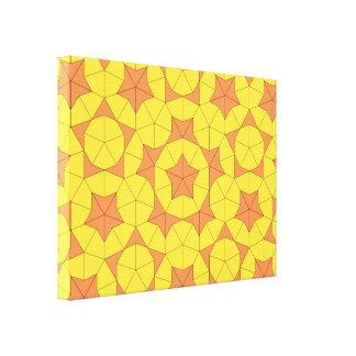 Penrose日曜日のタイルのキャンバス キャンバスプリント
