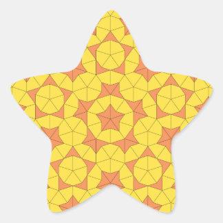 Penrose日曜日のタイル1のステッカー 星シール