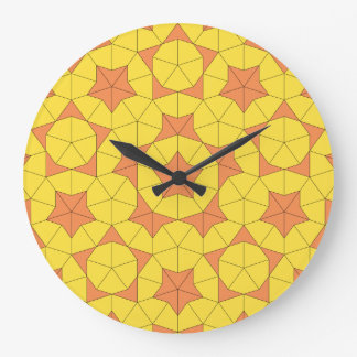 Penrose日曜日のタイル1の時計 ラージ壁時計