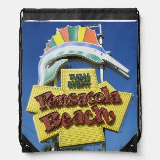 Pensacolaのビーチの印のバッグ ナップサック
