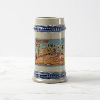 PensacolaフロリダFLの古いヴィンテージ旅行記念品 ビールジョッキ