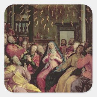 Pentecost、c.1598 (パネルの油) スクエアシール