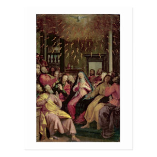 Pentecost、c.1598 (パネルの油) ポストカード