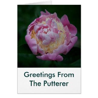 PeonieのPuttererからの挨拶 カード