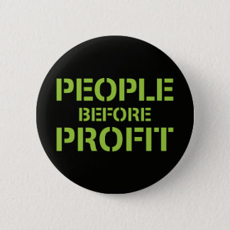 People before Profit 缶バッジ