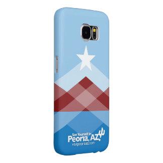 Peoriaの旗の銀河系6の電話箱 Samsung Galaxy S6 ケース