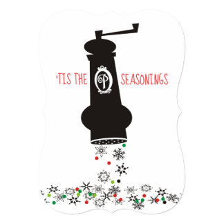 Pepper grinder snowflakes culinary Christmas card カード