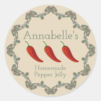 Pepper Jelly Label ラウンドシール