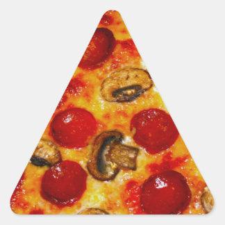 Pepperoniおよびきのこピザ 三角形シール