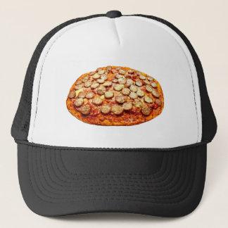Pepperoniおよびソーセージが付いているピザ キャップ