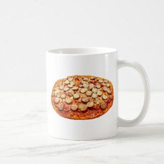 Pepperoniおよびソーセージが付いているピザ コーヒーマグカップ
