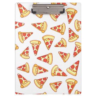 Pepperoniピザ切れのスケッチパターンクリップボード クリップボード