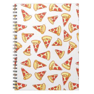 Pepperoniピザ切れのスケッチパターンノート ノートブック