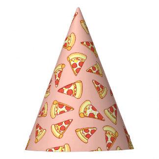 Pepperoniピザ切れのスケッチパターンパーティーの帽子 パーティーハット
