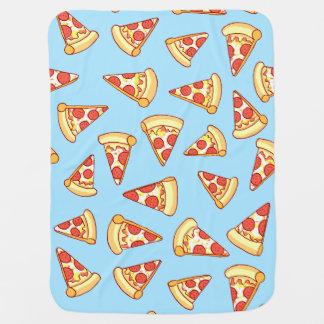 Pepperoniピザ切れのスケッチパターンベビーブランケット ベビー ブランケット