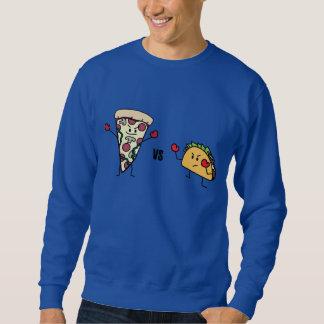 Pepperoniピザ対タコス: メキシコ人対イタリア語 スウェットシャツ