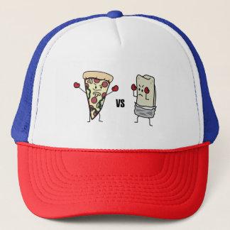 Pepperoniピザ対ブリトー: メキシコ人対イタリア語 キャップ