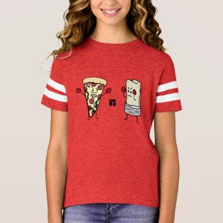 Pepperoniピザ対ブリトー: メキシコ人対イタリア語 tシャツ