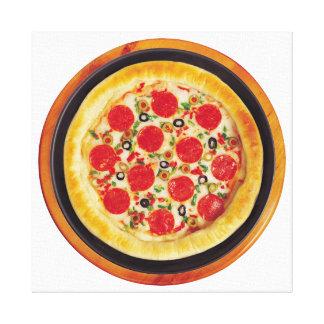 Pepperoniピザ キャンバスプリント