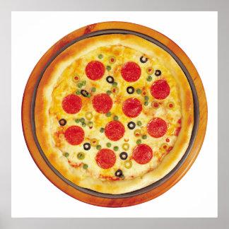 Pepperoniピザ ポスター